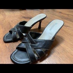 BRAND NEW black strappy heels